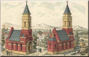 Modellbild aus dem 'Anker Steinbaukasten' der Gebrüder Lilienthal